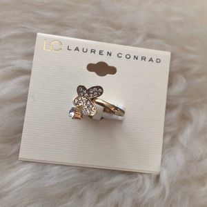LC Lauren Conrad Butterfly Bypass Gold Tone Ring